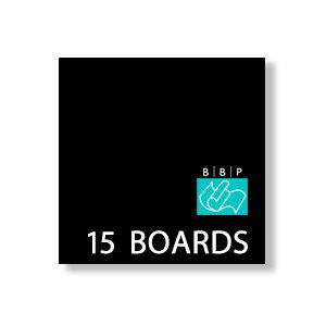 Bazzill Basics - 6 x 6 Black Board - Chipboard Pack - 15 Sheets