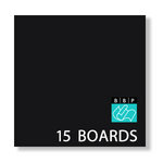 Bazzill Basics - 8 x 8 Black Board - Chipboard Pack - 15 Sheets