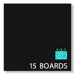 Bazzill Basics - 12 x 12 Black Board - Chipboard Pack - 15 Sheets