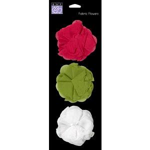 Bazzill Basics - Jaybird Street Collection - Fabric Flowers