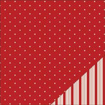 Bazzill Basics - Worth Remembering Collection - 12 x 12 Double Sided Paper - Red Dot Tea Towel