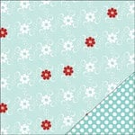 Bazzill - Worth Remembering Collection - 12 x 12 Double Sided Paper - Dancing Daisies