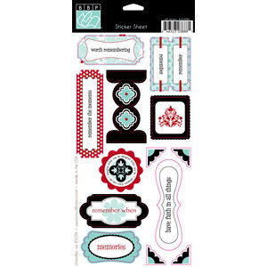Bazzill Basics - Worth Remembering Collection - Cardstock Stickers