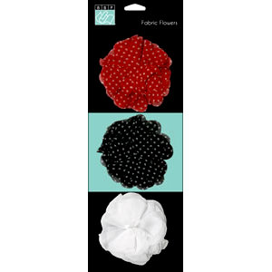 Bazzill Basics - Worth Remembering Collection - Fabric Flowers