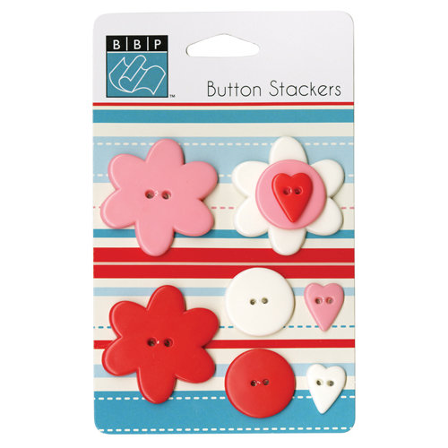 Bazzill Basics - Button Stackers - Heart