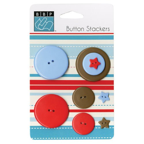 Bazzill - Button Stackers - Star