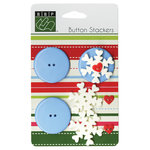 Bazzill - Button Stackers - Snowflake