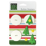 Bazzill - Christmas - Button Stackers - Xmas Tree