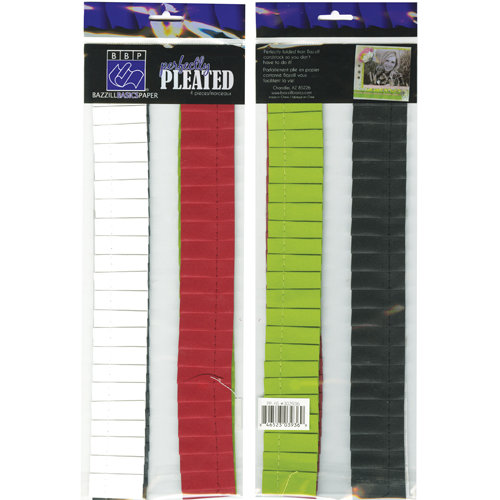 Bazzill Basics - Holiday Style Collection - Christmas - Just the Edge - 12 Inch Cardstock Strips - Perfectly Pleated