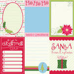 Bazzill - Holiday Style Collection - Christmas - Lickety Slip - 12 x 12 Double Sided Paper - Vertical