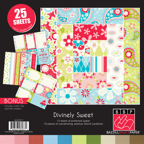 Bazzill Basics - Divinely Sweet Collection - 12 x 12 Assortment Pack