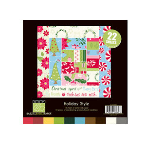 Bazzill Basics - Holiday Style Collection - Christmas - 8 x 8 Assortment Pack