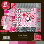 Bazzill - Love Story Collection - 12 x 12 Assortment Pack
