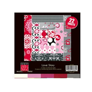 Bazzill - Love Story Collection - 8 x 8 Assortment Pack
