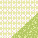 Bazzill Basics - Divinely Sweet Collection - 12 x 12 Double Sided Paper - Argyle Green