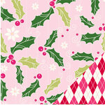 Bazzill Basics - Holiday Style Collection - Christmas - 12 x 12 Double Sided Paper - Holly Berry