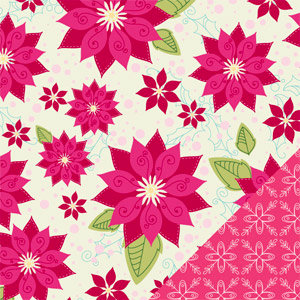 Bazzill Basics - Holiday Style Collection - Christmas - 12 x 12 Double Sided Paper - Pretty Poinsettia