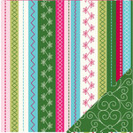 Bazzill Basics - Holiday Style Collection - Christmas - 12 x 12 Double Sided Paper - Holiday Stitches
