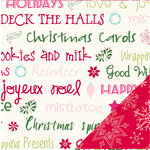 Bazzill - Holiday Style Collection - Christmas - 12 x 12 Double Sided Paper - Holiday Wishes