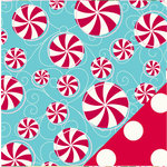 Bazzill - Holiday Style Collection - Christmas - 12 x 12 Double Sided Paper - Peppermint Twist