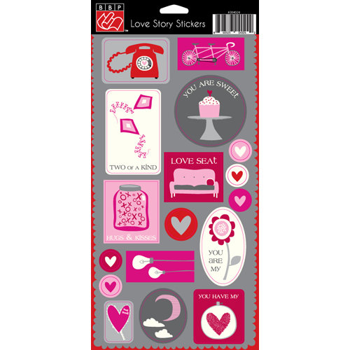 Bazzill Basics - Love Story Collection - Cardstock Stickers - Embellishments