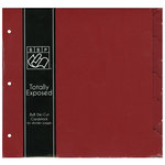 Bazzill - 8 x 8 Cardstock Divider Pages with Tabs - Set of 5 - Ruby Slipper