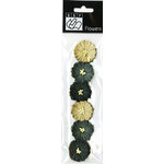 Bazzill Basics - Halloween - Paper Flowers - Poppies Neutral