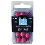 Bazzill Basics - Brads - Round 10mm - Red Devil