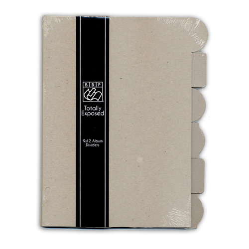 Bazzill - Totally Exposed Collection - 9 x 12 Chipboard Divider Pages with Tabs - Set of 6