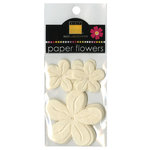 Bazzill - Paper Flowers - Posies - Sugar Cookie