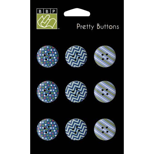 Bazzill - Dino-Mite Collection - Pretty Buttons