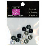 Bazzill - Buttons - Mini Modern - Neutral