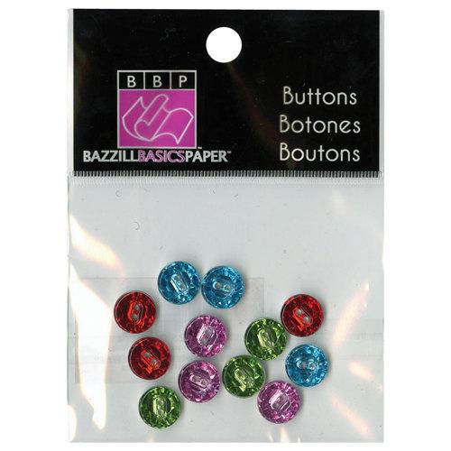 Bazzill Basics - Buttons - Mini Modern - Bright