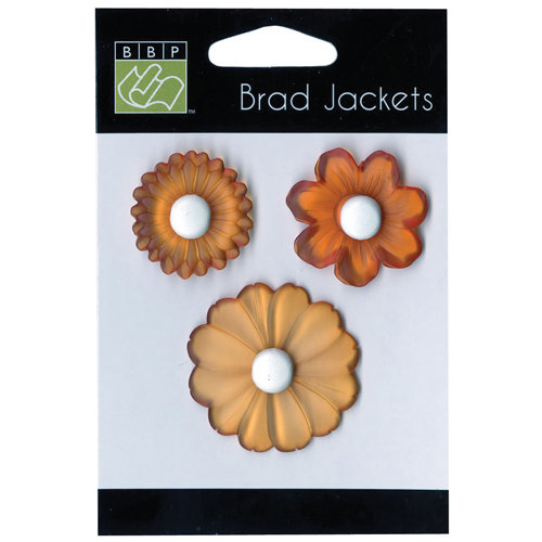 Bazzill - Brad Jackets - Flowers - Intense Orange