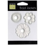 Bazzill - Brad Jackets - Flowers - White