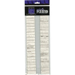 Bazzill - Just the Edge - 12 Inch Cardstock Strips - Perfectly Pleated - Sheet Music