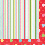 Bazzill - Avalon Collection - 12 x 12 Double Sided Paper - Multi-Stripe