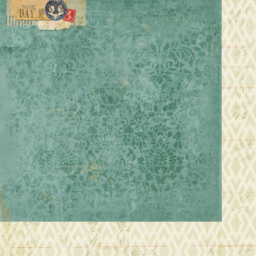Bazzill Basics - Janet Hopkins - Wayfarer Collection - 12 x 12 Double Sided Paper - Tourist