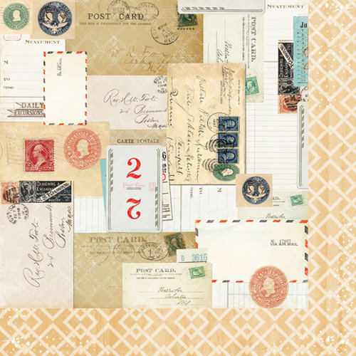 Bazzill Basics - Janet Hopkins - Wayfarer Collection - 12 x 12 Double Sided Paper - Rambler