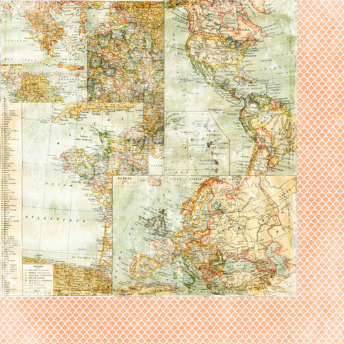 Bazzill - Janet Hopkins - Wayfarer Collection - 12 x 12 Double Sided Paper - Drifter