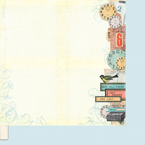 Bazzill - Janet Hopkins - Wayfarer Collection - 12 x 12 Double Sided Paper - Traveler