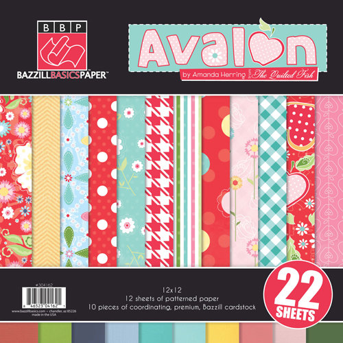 Bazzill Basics - Avalon Collection - 12 x 12 Assortment Pack