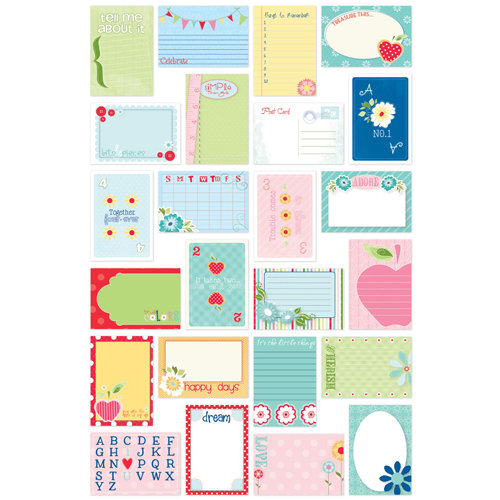 Bazzill Basics - Avalon Collection - Lickety Slip - 4 x 6 Journaling Cards