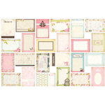 Bazzill - Margie Romney-Aslett - Vintage Marketplace Collection - Lickety Slip - 4 x 6 Journaling Cards