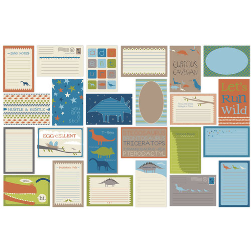 Bazzill Basics - Dino-Mite Collection - Lickety Slip - 4 x 6 Journaling Cards