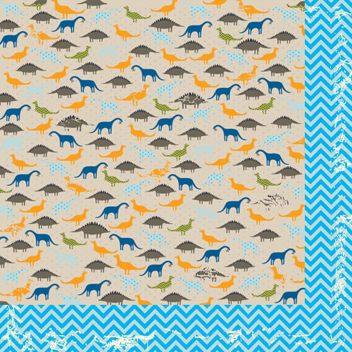 Bazzill Basics - Dino-Mite Collection - 12 x 12 Double Sided Paper - Dino-Mite