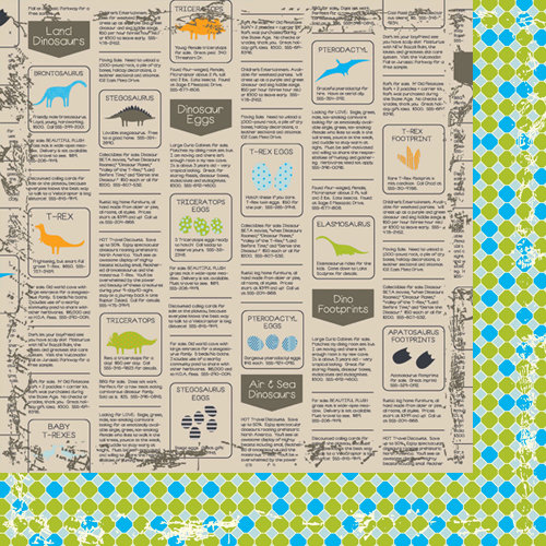 Bazzill Basics - Dino-Mite Collection - 12 x 12 Double Sided Paper - Swamp Scales