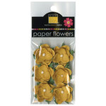 Bazzill - Janet Hopkins - Wayfarer Collection - Paper Flowers - Yukon Gold