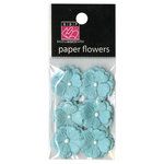 Bazzill - Margie Romney-Aslett - Vintage Marketplace Collection - Paper Flowers - Frosted Teal