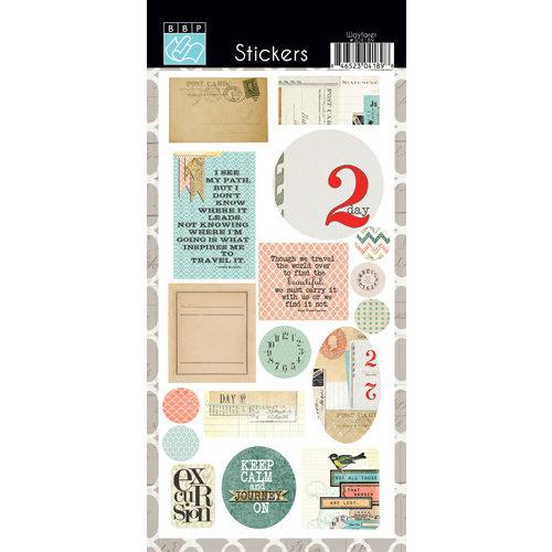 Bazzill - Janet Hopkins - Wayfarer Collection - Cardstock Stickers
